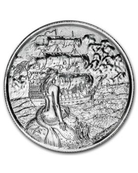 2oz Ultra High Relief .999 Silver Round - The Siren - Privateer 2