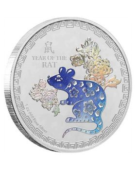 2020 1 oz Niue Lunar Year of the Rat 999 Silver Proof Coin