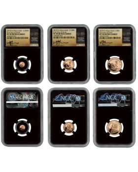 2019 South Africa Krugerrand Proof Gold 3 Coin Set (NGC PF70UC FDI BC TUMI)