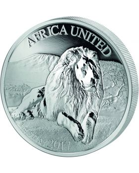 2017 3 oz Five Nations Africa United Lion .999 Silver Proof Coin