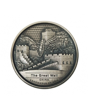 2022 2oz Cambodia GreatWall of China .999 Silver Antique Coin