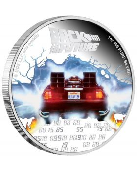 2020 1 oz Niue Back To The Future 35th Anniversary .999 Silver Proof Coin