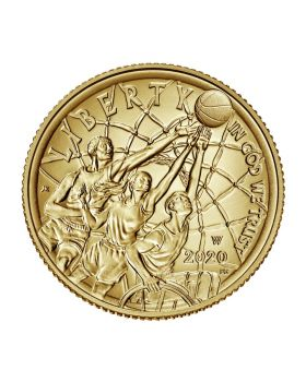 2020 8.359 gram United States Basketball Hall of Fame 2020 .900 Gold Coin BU