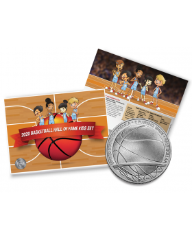 2020 United States Basketball Hall of Fame 2020 Enhanced Uncirculated Clad Nickel & Copper Kids Set