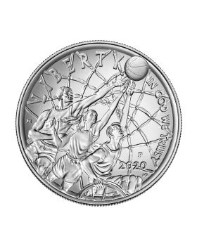 2020 26.73 gram United States Basketball Hall of Fame 2020 .999 Silver Coin BU