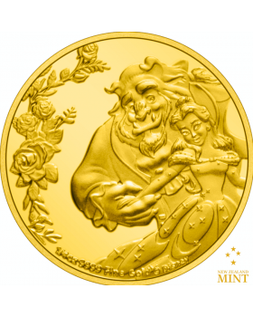 2021 1/4oz Niue Disney Beauty and the Beast 30th Anniversary .9999 Gold Proof Coin