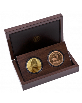 2020 1 oz South Africa Big Five - Rhino & Krugerrand with Rhino Privy Gold Proof 2 Coin Set