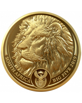 2019 1 oz South Africa Big Five - Lion 9999 Gold Proof Coin