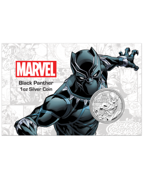 2018 1 oz Tuvalu Marvel Series - Black Panther .9999 Silver Coin BU (in Card)