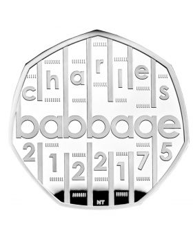 2021 8g Great Britain Innovation In Science Series - Charles Babbage .925 Silver Proof Coin