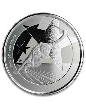 2019 1 oz Cameroon Republic of Cameroon Cheetah .999 Silver Proof Coin