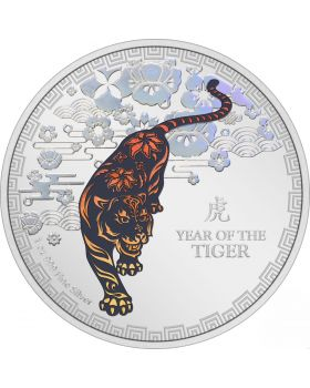 2022 1oz Niue Lunar Year of The Tiger .999 Silver Proof Coin