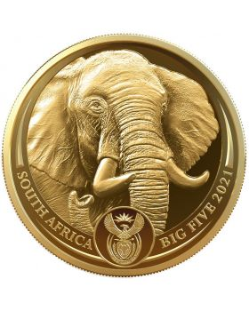 2021 1 oz South Africa Big 5 Series II - Elephant .9999 Gold Proof Coin