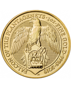 2019 1 oz Great Britain Queen's Beasts - The Falcon of the Plantagenets .9999 Gold Coin