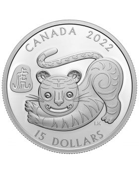 2022 1oz Canada Lunar Year of The Tiger .9999 Silver Proof Coin