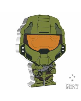 2021 1oz Niue Chibi Collection Halo Series - Master Chief .999 Silver Proof Coin