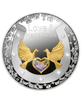 2021 17.5g Niue Love and Happiness .999 Silver Proof Coin