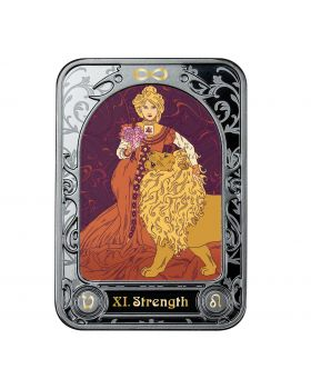 2021 28.28g Cameroon Strength Tarot .999 Silver Proof Coin