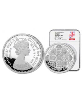 2021 10oz Alderney Gothic Crown 999 Silver Coin (NGC PF70)