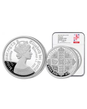 2021 1kg Alderney Gothic Crown 999 Silver Proof Coin NGC PF70
