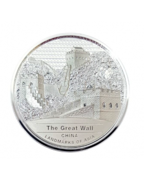 2022 2 oz Cambodia Great Wall of China .999 Silver Proof Coin