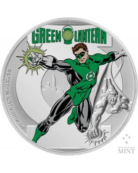 2020 1 oz Niue Justice League 60th Anniversary - Green Lantern .999 Silver Proof Coin