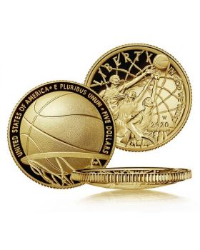 2020 8.359 gram United States Basketball Hall of Fame 2020 .900 Gold Proof Coin