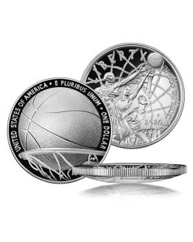 2020 26.73 gram United States Basketball Hall of Fame .999 Silver Proof Coin