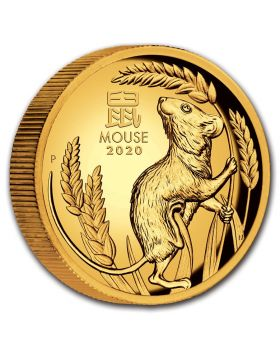 2020 1 oz Australia Lunar Series III - Year of The Mouse 9999 Gold High Relief Proof Coin