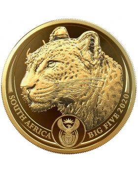 2020 1 oz South Africa Big Five Leopard .9999 Gold Proof Coin