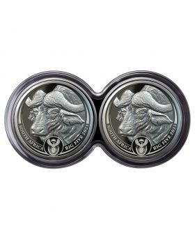 2021 1 oz South Africa Big Five Buffalo .999 Silver Proof 2 Coin Set