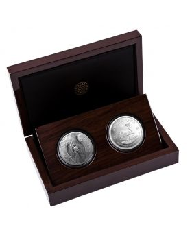 2021 1oz South Africa Big Five Series II - Elephant & Krugerrand with Elephant Privy .999 Silver Proof 2 Coin Set