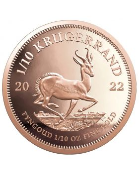 2022 1/10 oz South Africa Krugerrand .9167 Gold Proof Coin