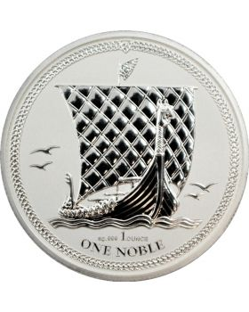 2017 1 oz Isle of Man Noble .999 Silver Reverse Proof Coin