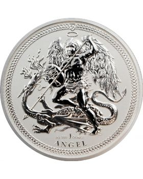 2017 1 oz Isle of Man Angel .999 Silver Reverse Proof Coin