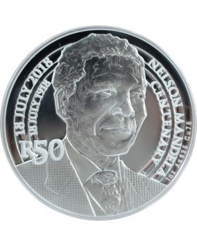 2018 1 oz South Africa Nelson Mandela Centenary - R50 Sterling Silver Proof Coin