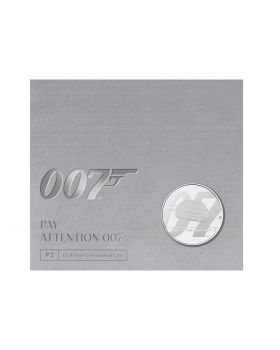 2020 28.28 gram Great Britain James Bond 2 Pay Attention 007  Cupro-Nickel Coin