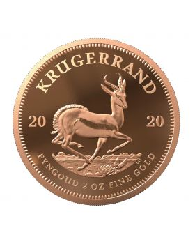 2020 2oz South Africa Krugerrand .9167 Gold Proof Coin