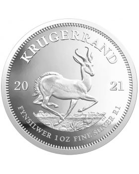 2021 1 oz South Africa Krugerrand 999 Silver Proof Coin