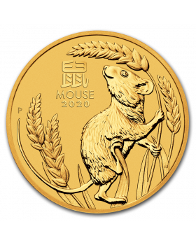 2020 1/2 oz Australia Lunar Series III Year Of The Mouse 9999 Gold Coin