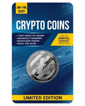 2020 1 oz Chad Crypto Series - Litecoin .999 Silver Proof Like Coin
