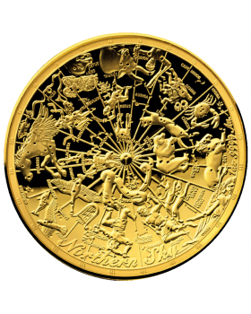 2017 1oz Australia Celestial Dome - Northern Sky .9999 Gold Domed Proof Coin