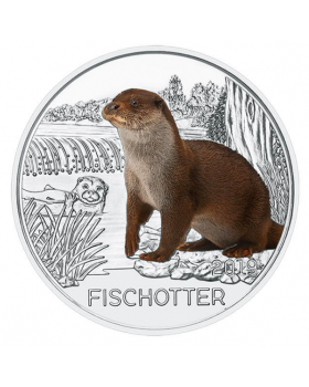 2019 16 gram Austria Colorful Creatures - The Otter Copper Nickel Coin