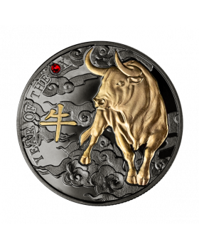 2021 10 gram Cameroon Chiese Calendar - Year of the Ox .999 Silver Antique Coin