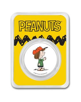 2021 1 oz Peanuts - Peppermint Patty .999 Silver Colorized Round
