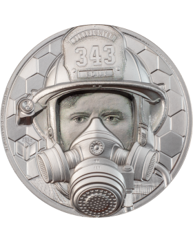 2021 1oz Cook Islands Firefighter Real Heroes .9995 Platinum Proof Coin