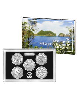 2020 United States America the Beautiful Quarters .999 Silver Proof  5 Coin Set