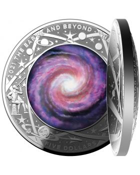 2021 1oz Australia  Earth & Beyond - Milky Way .999 Silver Domed Proof Coin