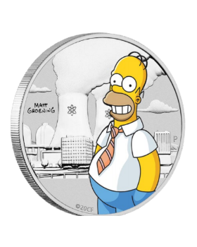 2020 1/2oz Tuvalu Simpsons Homer .9999 Silver Coloured Coin