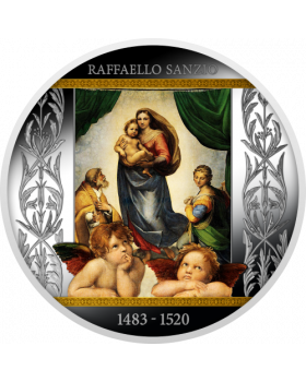 2020 17.5g Cameroon Sistine Madonna .999 Silver Proof Coin
